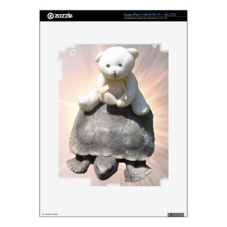Bear riding Turtle Zazzle Skin iPad 3 Decal