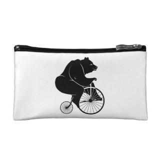 Bear Riding Vintage Bike Cosmetic Bag