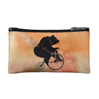Bear Riding Vintage Bike Makeup Bag