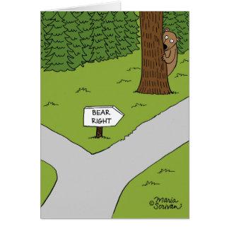 Bear Right Greeting Card