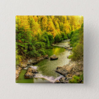 Bear River, Gold Country California, Fall Colors Button