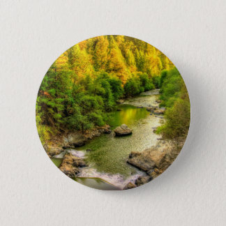 Bear River, Gold Country California, Fall Colors Pinback Button