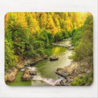Bear River Northern California fall foliage Mouse Pad