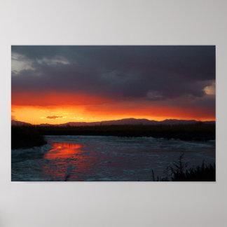 Bear River Sunset Poster