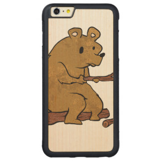 bear roasting marshmallows carved® maple iPhone 6 plus bumper
