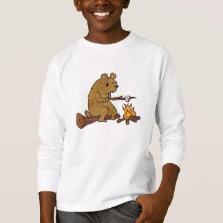 bear roasting marshmallows T-Shirt