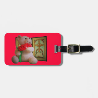 Bear Rose and Cross Travel Bag Tags