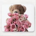 bear roses mousepad