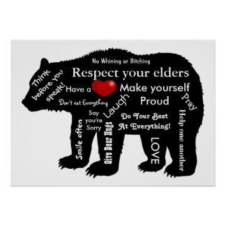 bear rules poster