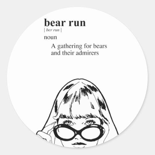 BEAR RUN ROUND STICKER