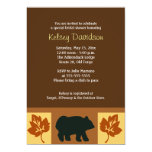 BEAR Rustic Lodge style 5x7 Bridal Shower Invite