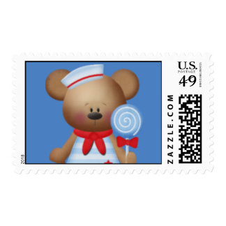 Bear Sailor  Postage Stamp