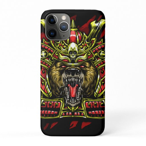 Bear Samurai Warrior iPhone 11 Pro Case