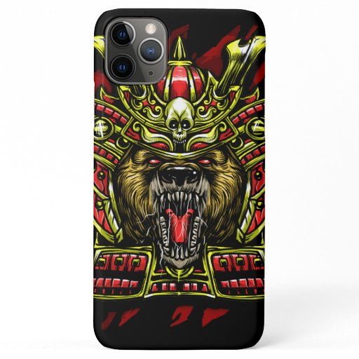 Bear Samurai Warrior iPhone 11 Pro Max Case