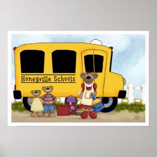 Bear School Poster