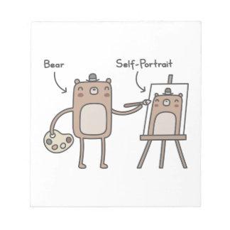 Bear Self-Portrait Note Pad