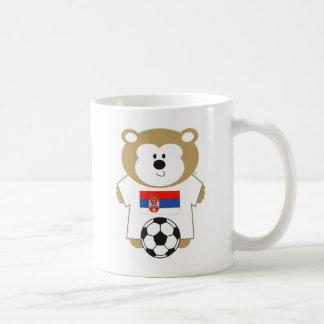 BEAR SERBIA CLASSIC WHITE COFFEE MUG