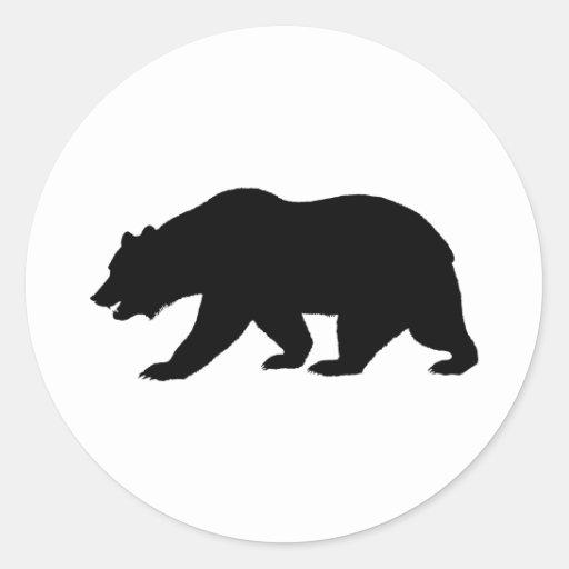 Bear Shape Classic Round Sticker