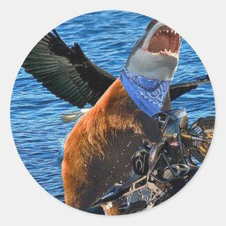 bear shark sticker