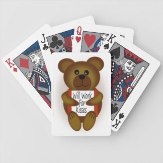 Bear Sign Bicycle Playing Cards