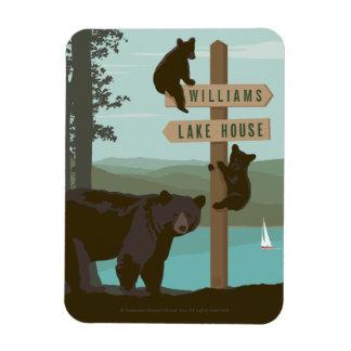 Bear Sign Post Rectangular Photo Magnet