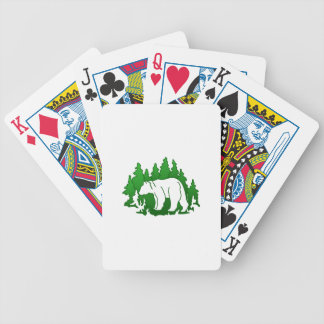 Bear Silhouette Bicycle Playing Cards