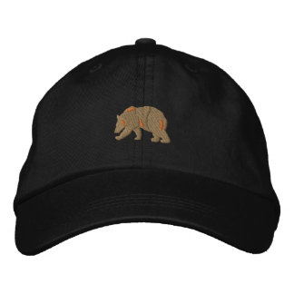Bear Silhouette Embroidered Baseball Hat