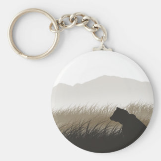 Bear Silhouette Keychain
