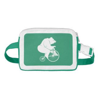 Bear Silhouette Riding Vintage Bike Waist Bag