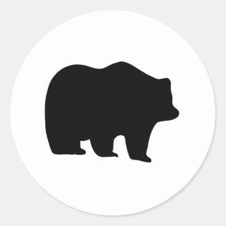 Bear Silhouette Sticker