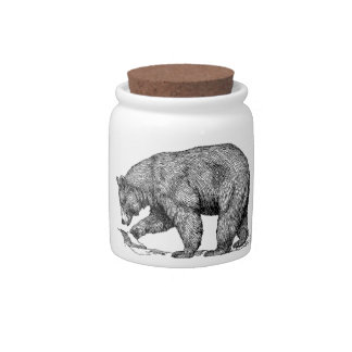 BEAR SKETCH CANDY JAR