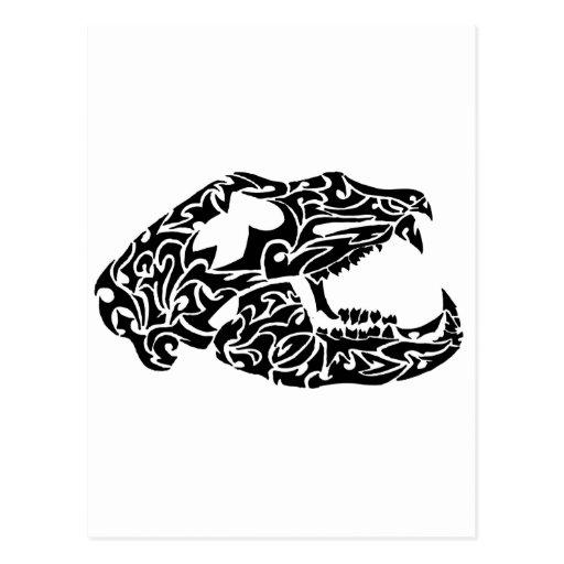 Bear skull postcard