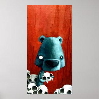 Bear skull posters