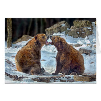 Bear Smooch Holiday Card