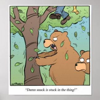 Bear Snack Poster