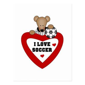 Bear Soccer Referee Tshirts and Gifts Postcard