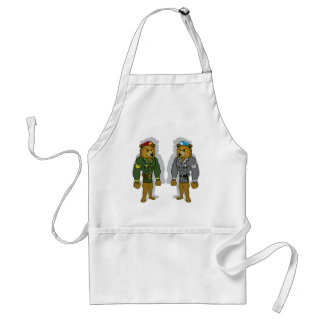 Bear Soldier Adult Apron