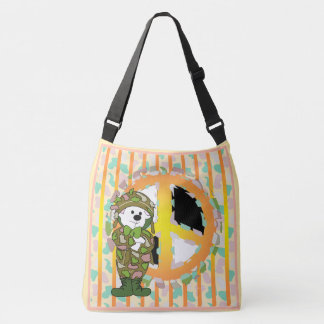 BEAR SOLDIER CARTOON All-Over-Print Cross B LARGE Crossbody Bag