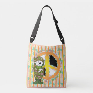 BEAR SOLDIER CARTOON All-Over-Print Cross B MEDIUM Crossbody Bag