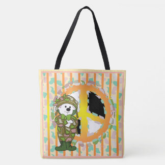 BEAR SOLDIER CARTOON All-Over-Print ToteBag LARGE Tote Bag