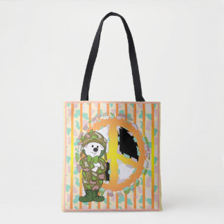 BEAR SOLDIER CARTOON All-Over-Print ToteBag MEDIUM Tote Bag