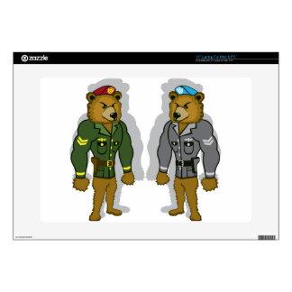 Bear Soldier Laptop Skins