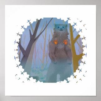 Bear spirit print