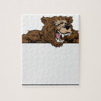 Bear Sports Mascot Sign Puzzle