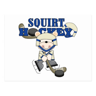 Bear Squirt Hockey Blue Tshirts and Gifts Postcard