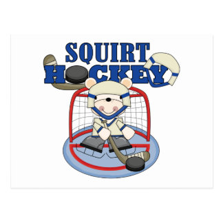 Bear Squirt Hockey Goalie Tshirts and Gifts Postcard