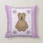 Bear Stamp Throw Pillows