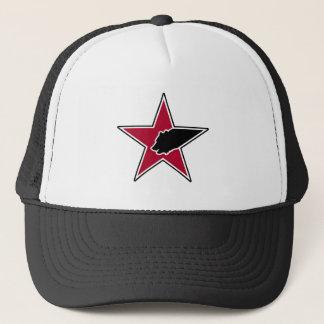 Bear & Star Logo (Red and Black) Trucker Hat