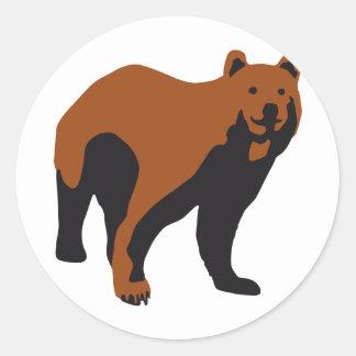bear round stickers