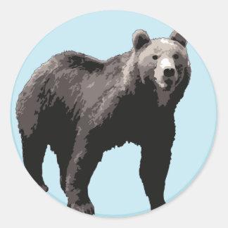 bear round sticker